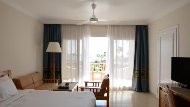 Apartment interior with working ventilator in the luxury hotel, Sharm el Sheikh, Egypt