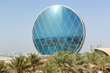 The luxury hotel and circular building, Abu Dhabi, UAE
