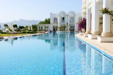 Swimming pool at luxury villa, Bodrum, Turkey