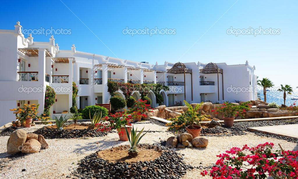 Villas decoration at the luxury hotel, Sharm el Sheikh ...
