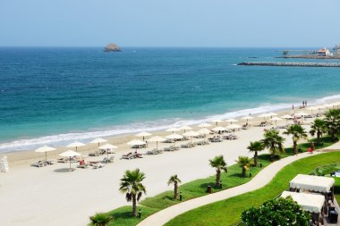 The beach at luxury hotel, Fujairah, UAE