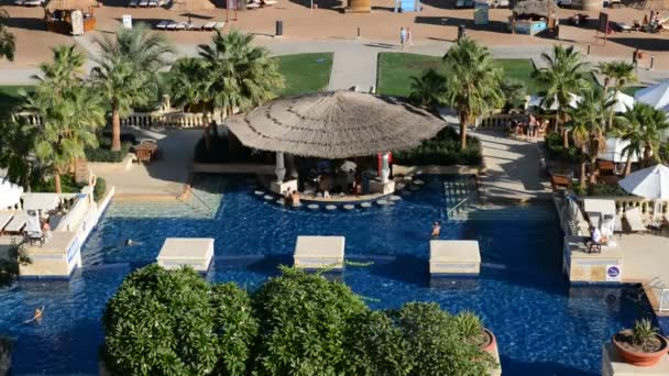 The swimming pool and bar at luxury hotel, Sharm el Sheikh, Egypt