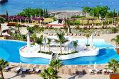 Bar v bazénu v luxusní hotel, bodrum, Turecko