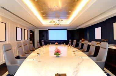 The meeting room interior at luxury hotel, Ras Al Khaimah, UAE