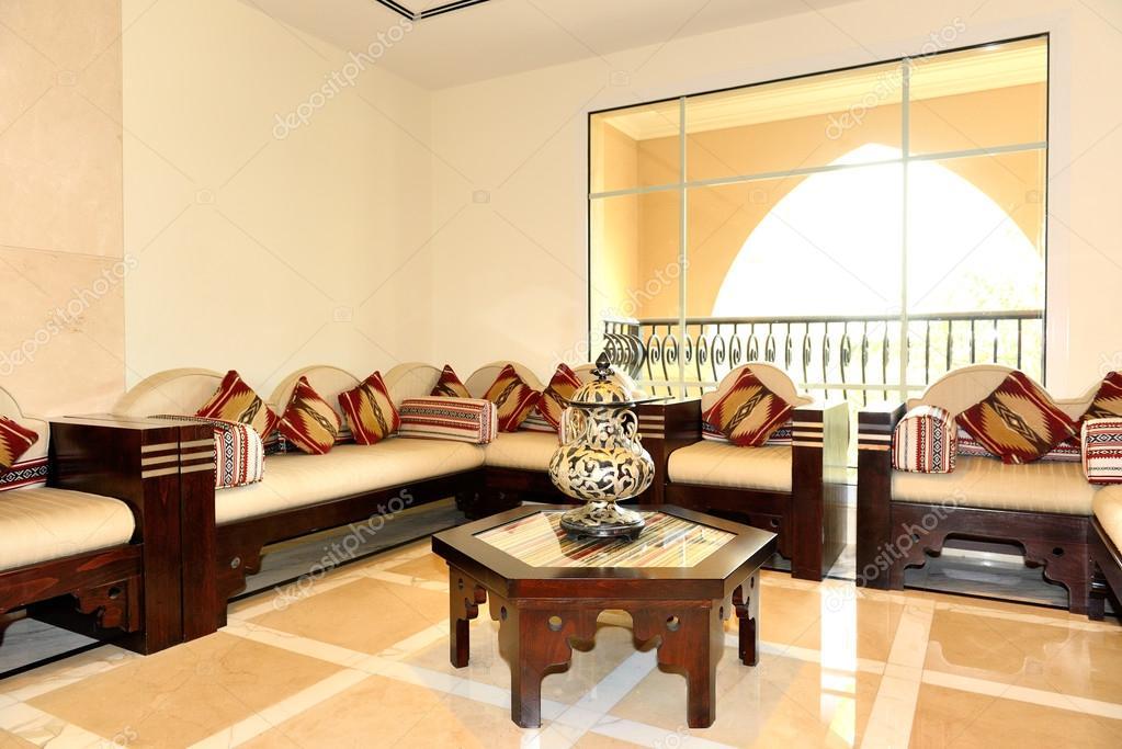 lobby interieur van de luxe hotel, dubai, Verenigde Arabische ...