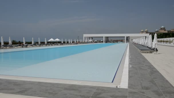 The swimming pool at the modern luxury hotel, Antalya, Turkey