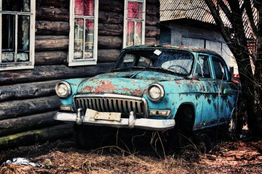 Old rusty car.