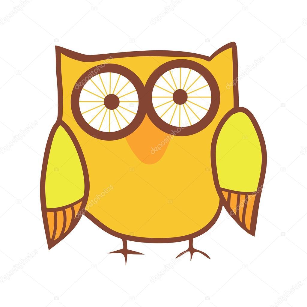 cute owl cartoon bird u2014 stock vector markovka 21008393