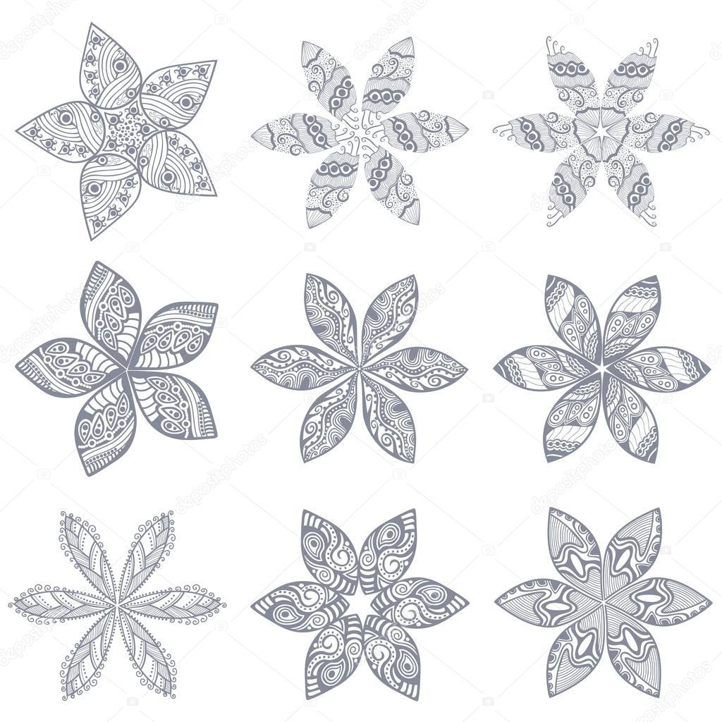 patrón de encaje ornamentales, fondo del círculo con muchos detalles ...