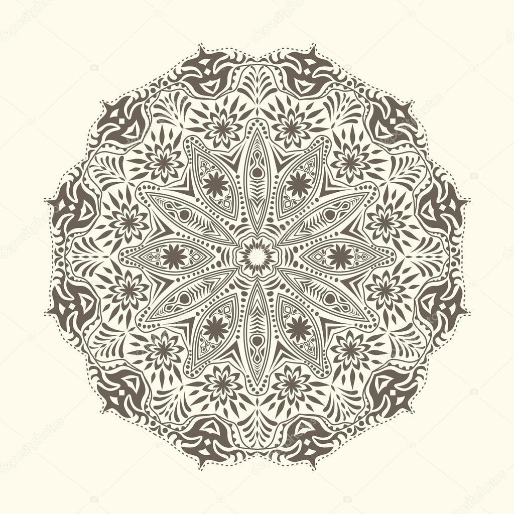 patrón de encaje ornamentales redondo — Vector de stock © markovka ...