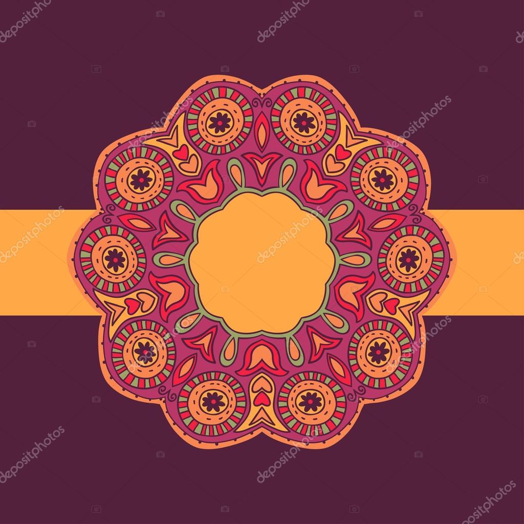marco ornamental del cordón redondo — Vector de stock © markovka ...