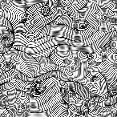 Seamless waves texture,wavy background
