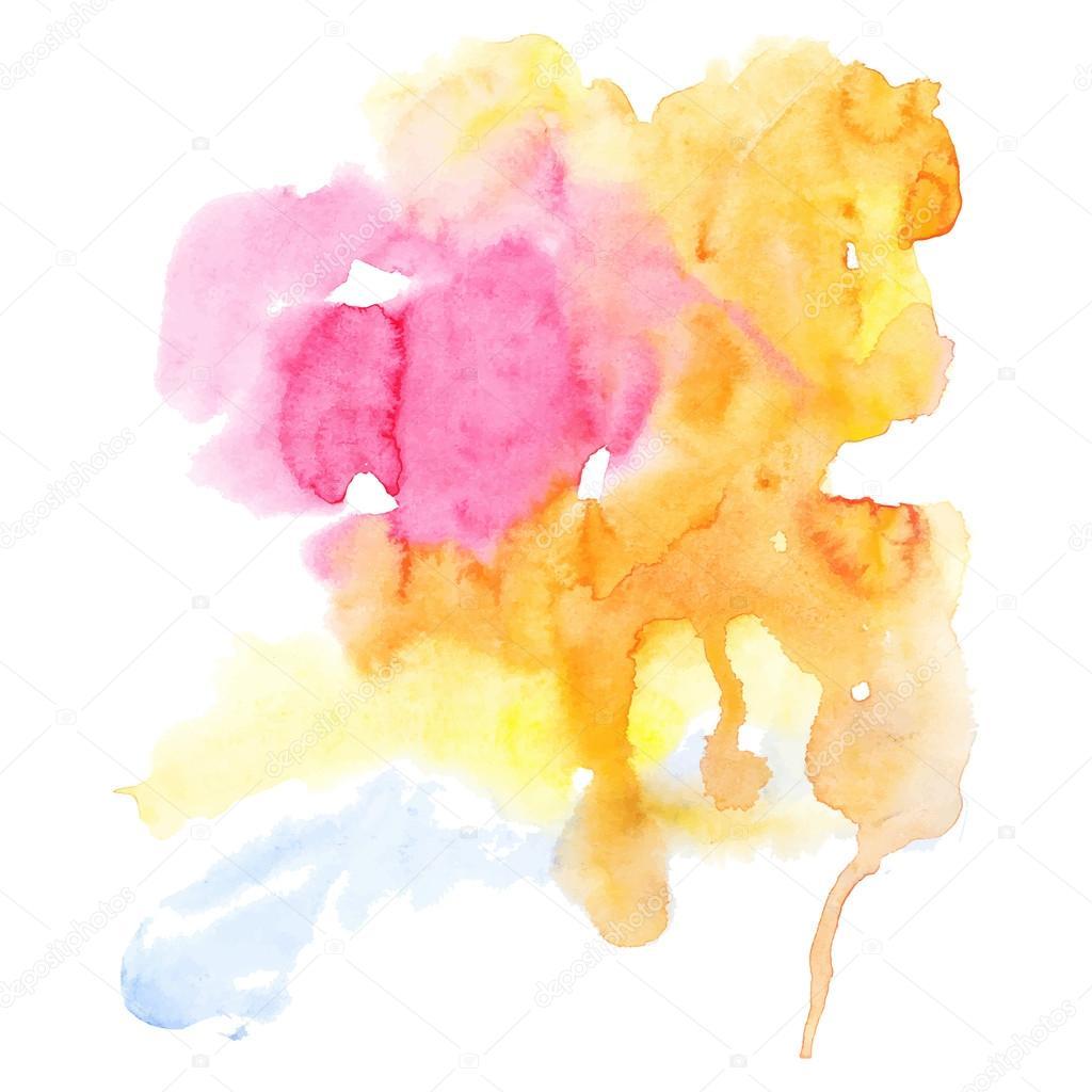 抽象的な手描き水彩背景 — ストックベクタ