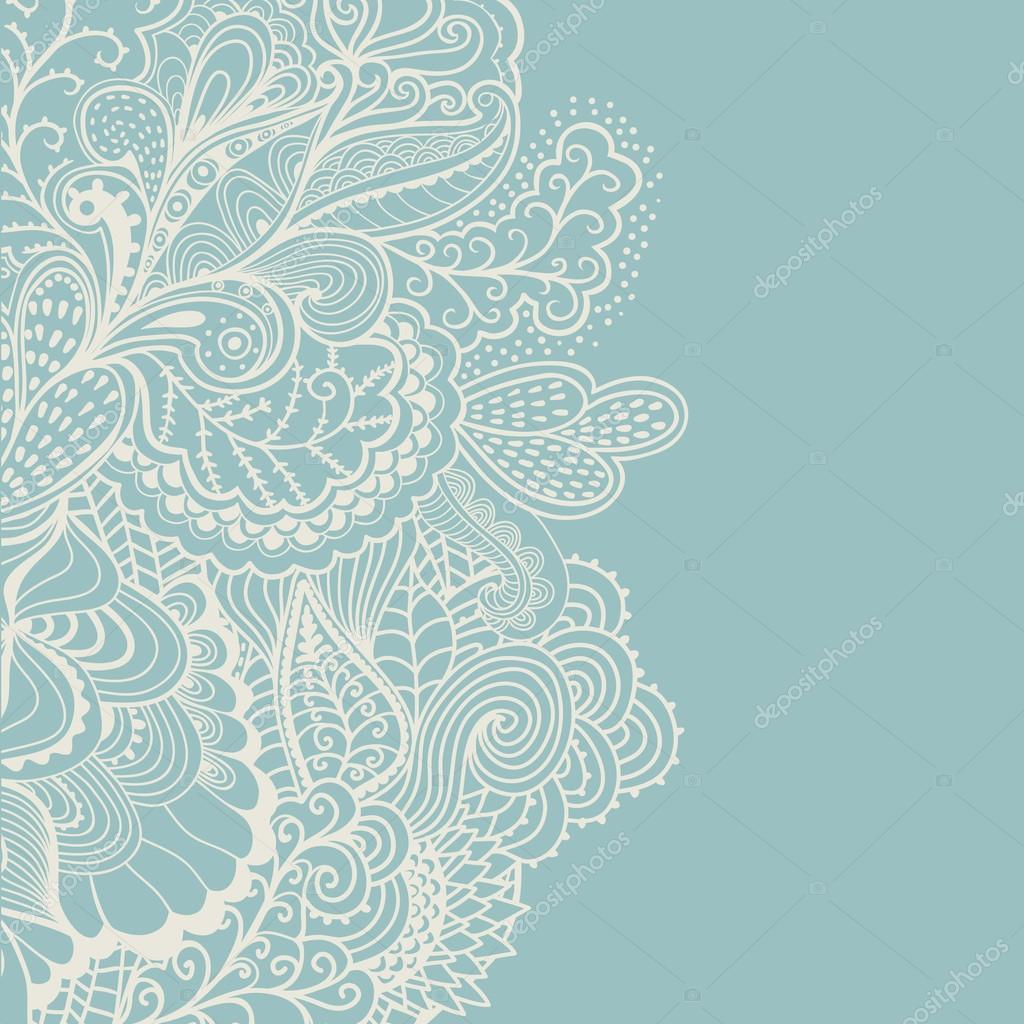 frontera de elemento decorativo. tarjeta de invitación abstracta ...