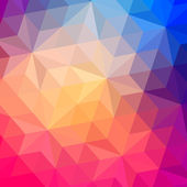 Fotografia modello retrò di forme geometriche. striscione colorato mosaico. sfondo retrò geometriche hipster con posto per il vostro testo. sfondo triangolo retrò