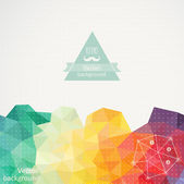 Fotografie Triangle pattern background, triangle background, vector illustr