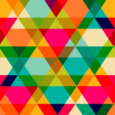 Pattern of geometric shapes. Triangles.Texture with flow of spec