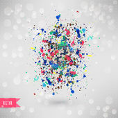 Fotografie Vektor Aquarell Textur. blaue Grunge-Papier-Vorlage. Wasser. wir