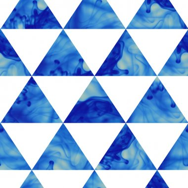 Ink triangles seamless pattern. Modern hipster seamless pattern.