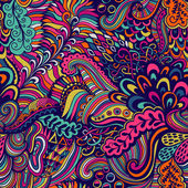 Fotografie Vektor nahtlose Textur mit abstrakten Blumen. Endloses Backgroun