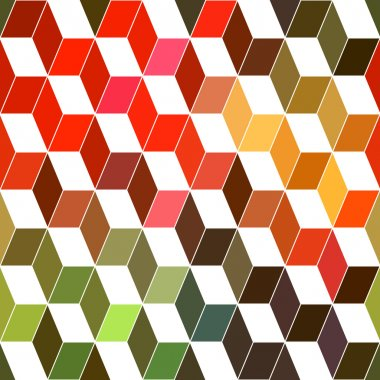 Seamless geometric pattern with geometric shapes, rhombus, color