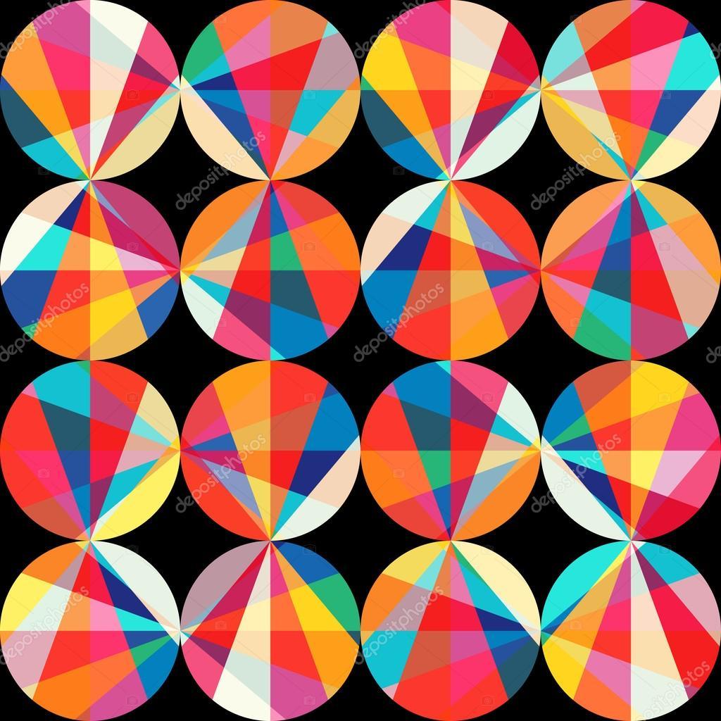 59ef1fb3b642d1 Motifs géométriques de cercles et de triangles. couture de cercles colorés  — Photo