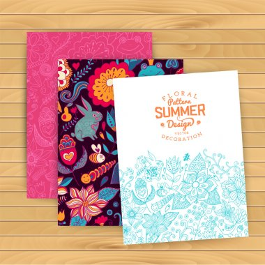 Floral banner for life events, vector. Greeting floral card. Pla