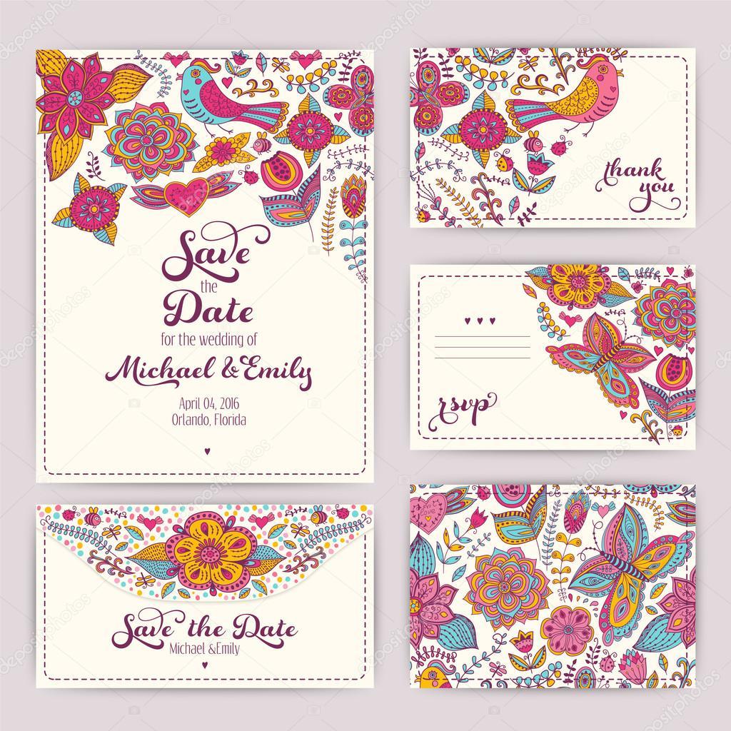 letölthető képek esküvői meghívóra nyomtatható esküvői meghívó sablon: meghívás, boríték, th — Stock  letölthető képek esküvői meghívóra