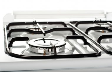Gas burner on a stove