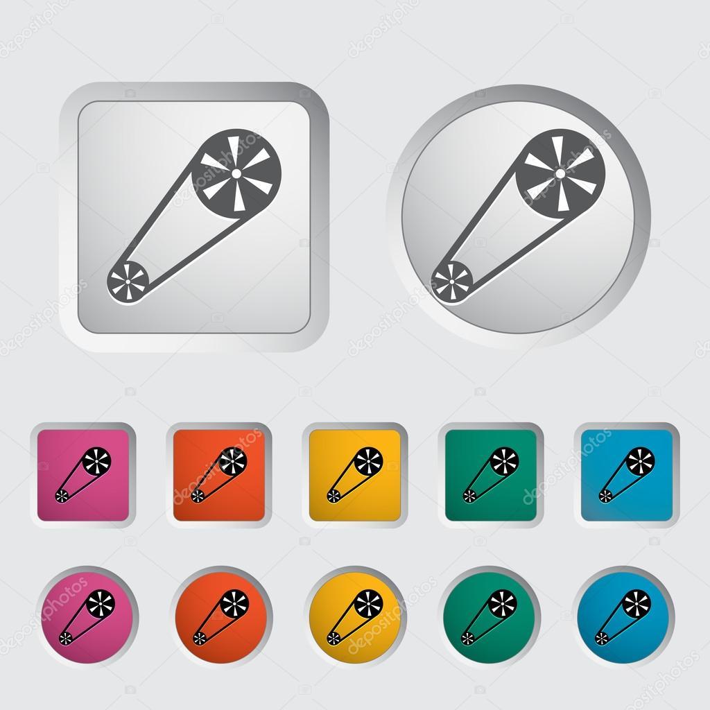 Timing belt icon.