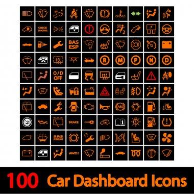 100 Car Dashboard Icons.