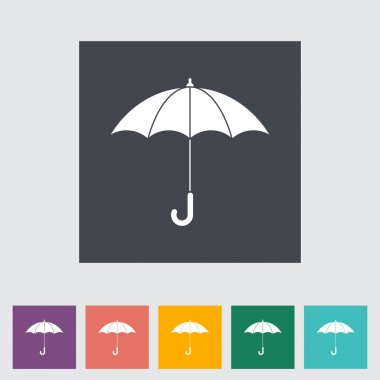 Umbrella flat icon.