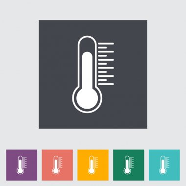 Thermometer flat icon. Vector illustration. clip art vector