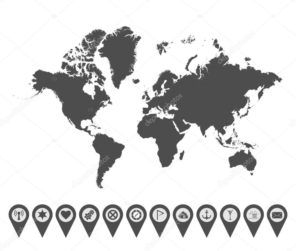 World map icon 4