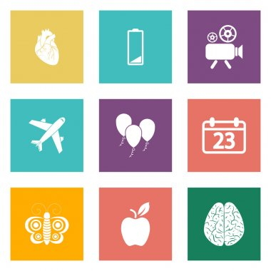 Icons for Web Design and Mobile Applications set 2