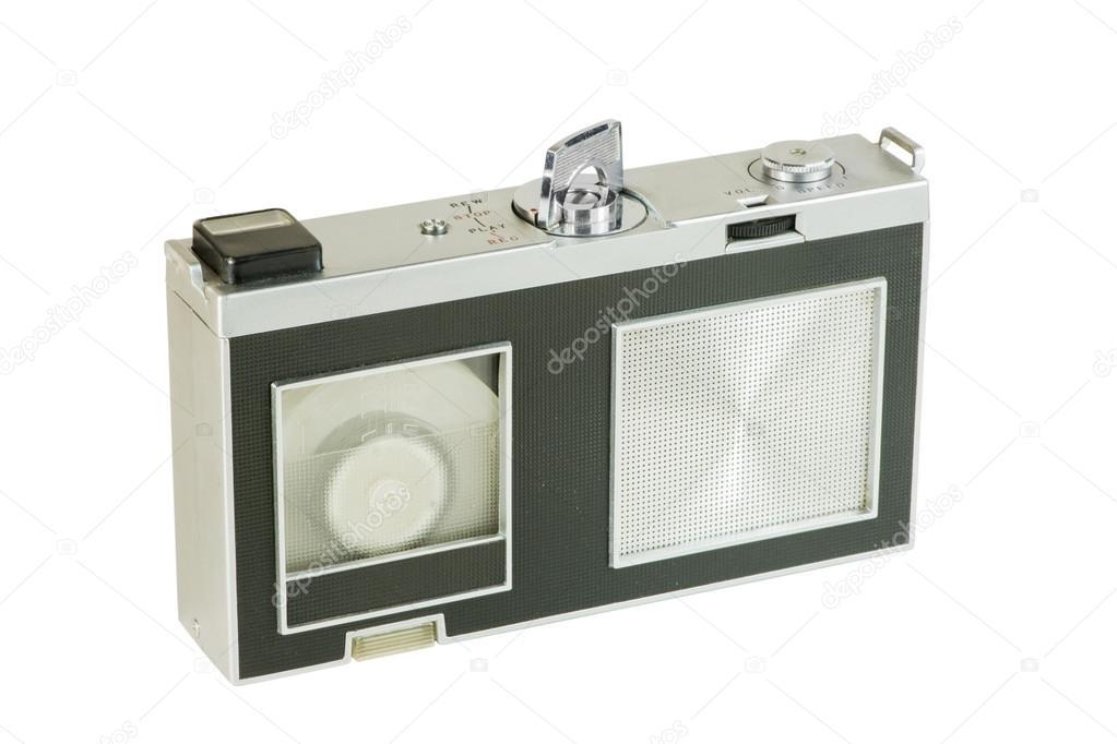 antiguo grabador portátil mini cartucho de cinta — Fotos de Stock ...
