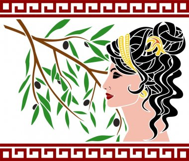 Aphrodite and olive branch