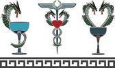 set of fantasy medical and pharmacy symbols