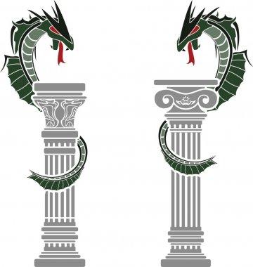 dragons and columns