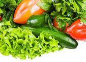 čerstvá zelenina izolované na bílém pozadí