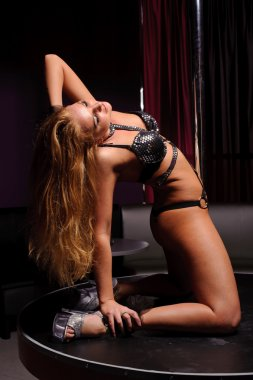 woman in strip club