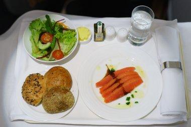 seafood on the plane