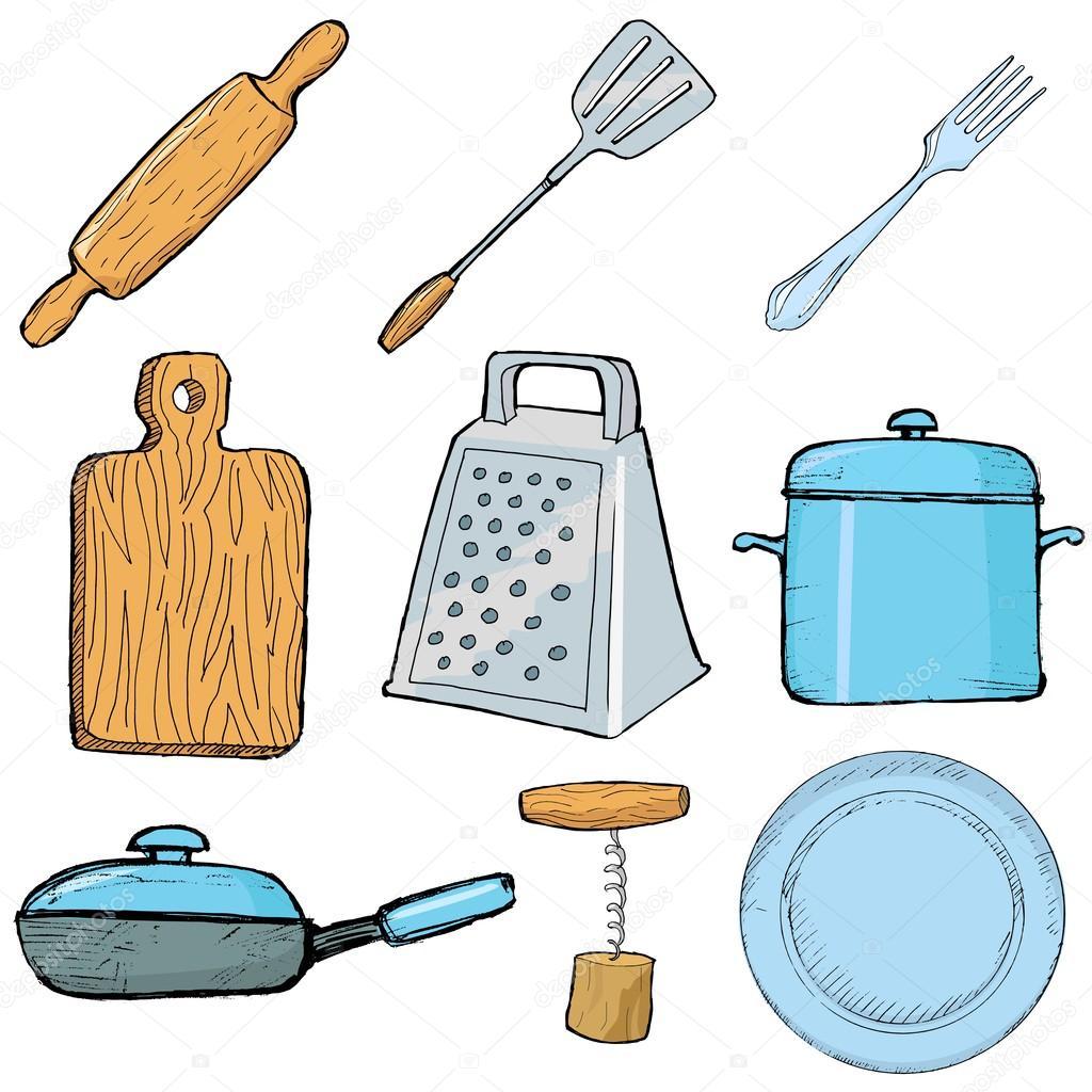 Objetos de cozinha vetor de stock perysty 17421665 for Objetos de cocina