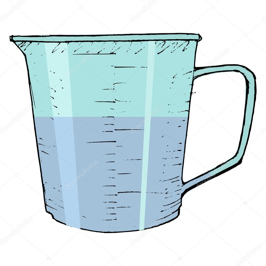 Measuring cup — Stock Vector © Perysty #17834523