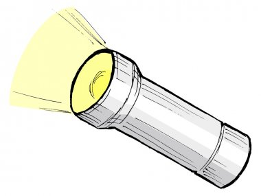 Metallic flashlight