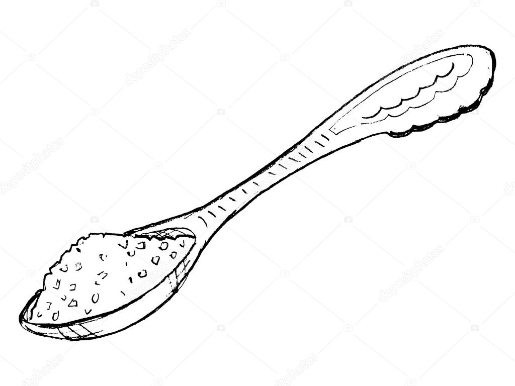 Cuill re de sucre image vectorielle perysty 21487361 - Cuillere dessin ...