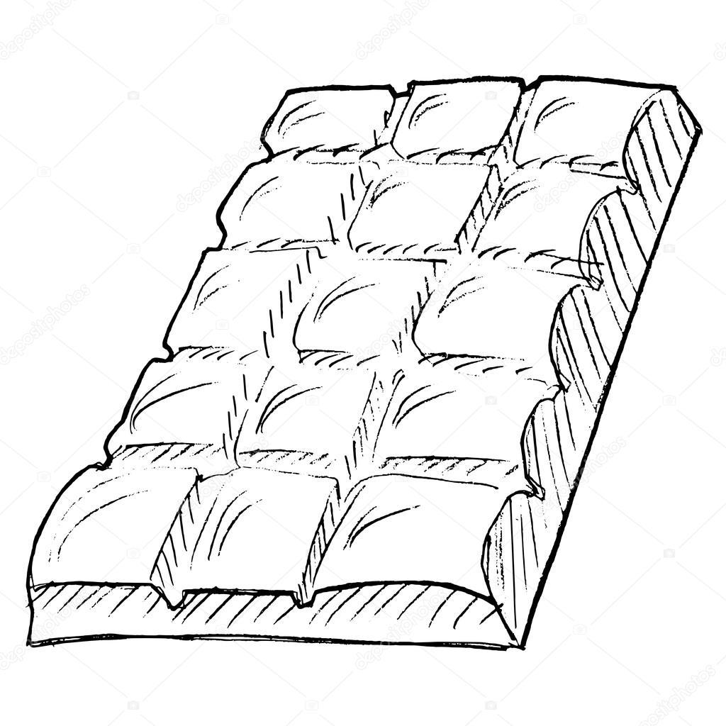 Tablette de chocolat image vectorielle perysty 21487405 - Dessin tablette chocolat ...
