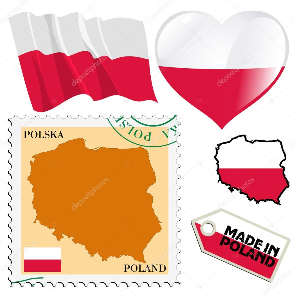 National colours of poland stock vector perysty 32597661 set of different symbols in national colours of poland vector by perysty biocorpaavc