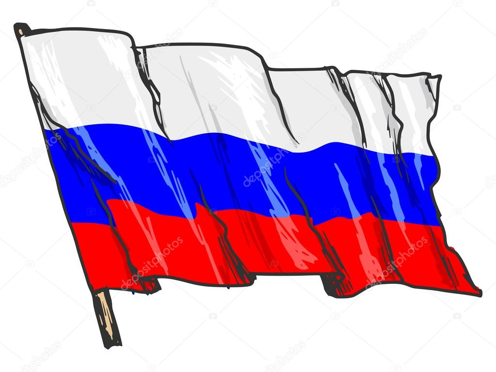 российский флаг картинки карандашом сиденья обтянуты