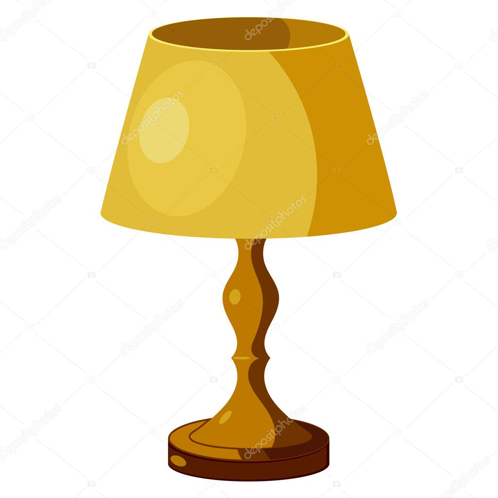 Yellow lamp with shade. eps10